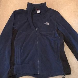 North face navy blue and black jacket